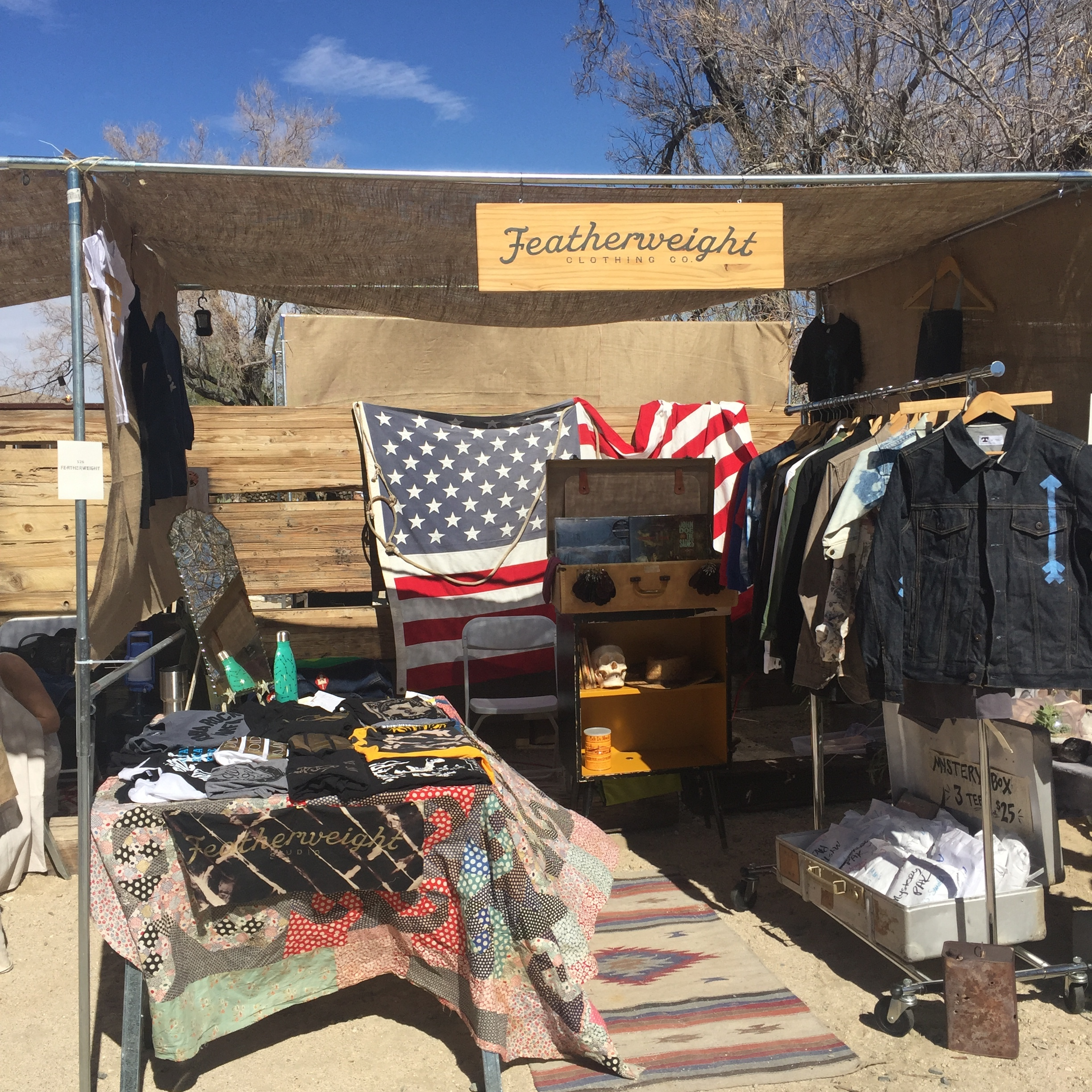 Featherweight Studio @ Desert & Denim    Joshua Tree CA