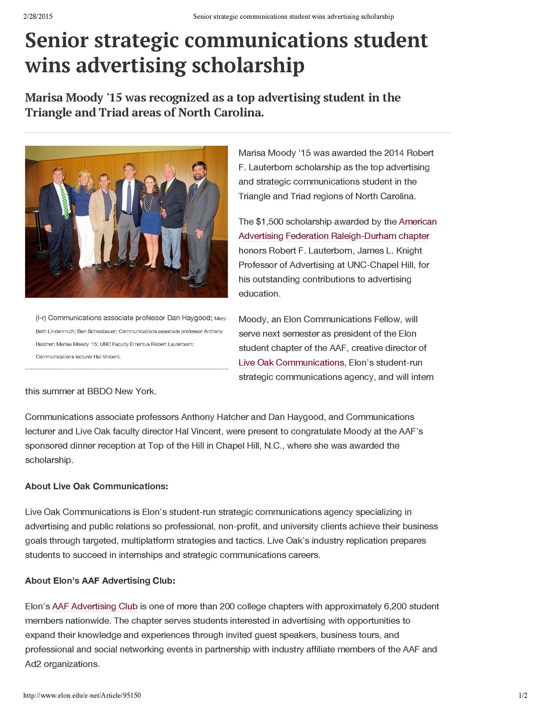 Senior strategic communications student wins advertising scholarship_Page_1.jpg
