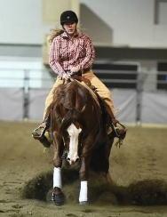 Erin Alberda and Rafter D Reiner's Berry Shiny - Champion Grade 3 & 4.