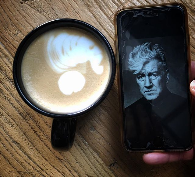 'This whole world is wild at heart and weird on top'.... This is the 1st and last top down cappuccino shot we will ever post.. Read more at: https://www.brainyquote.com/quotes/david_lynch_403477#davidlynch #lynchian #lynch #coffeeart