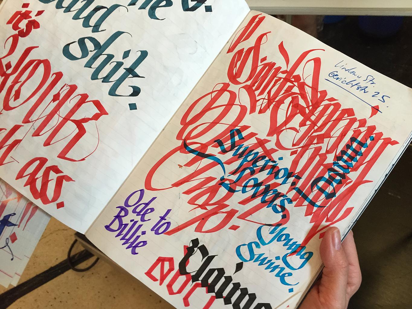 Flipping through the sketchbook of Drury Brennan