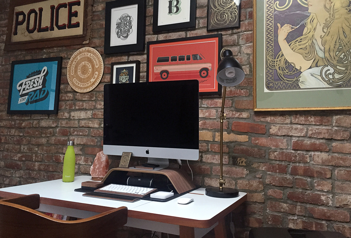 Scott  's desk from our new shared space