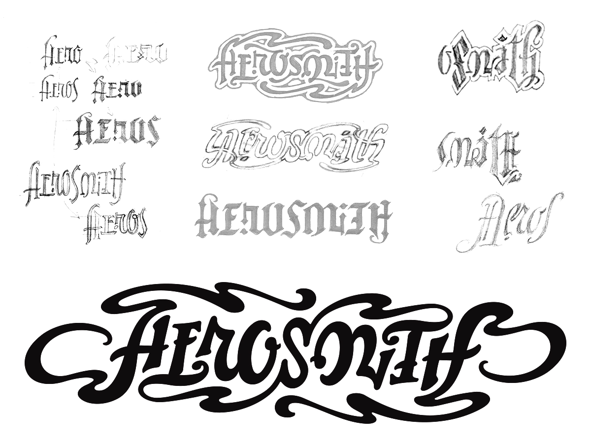 Logo design process for the band Aerosmith
