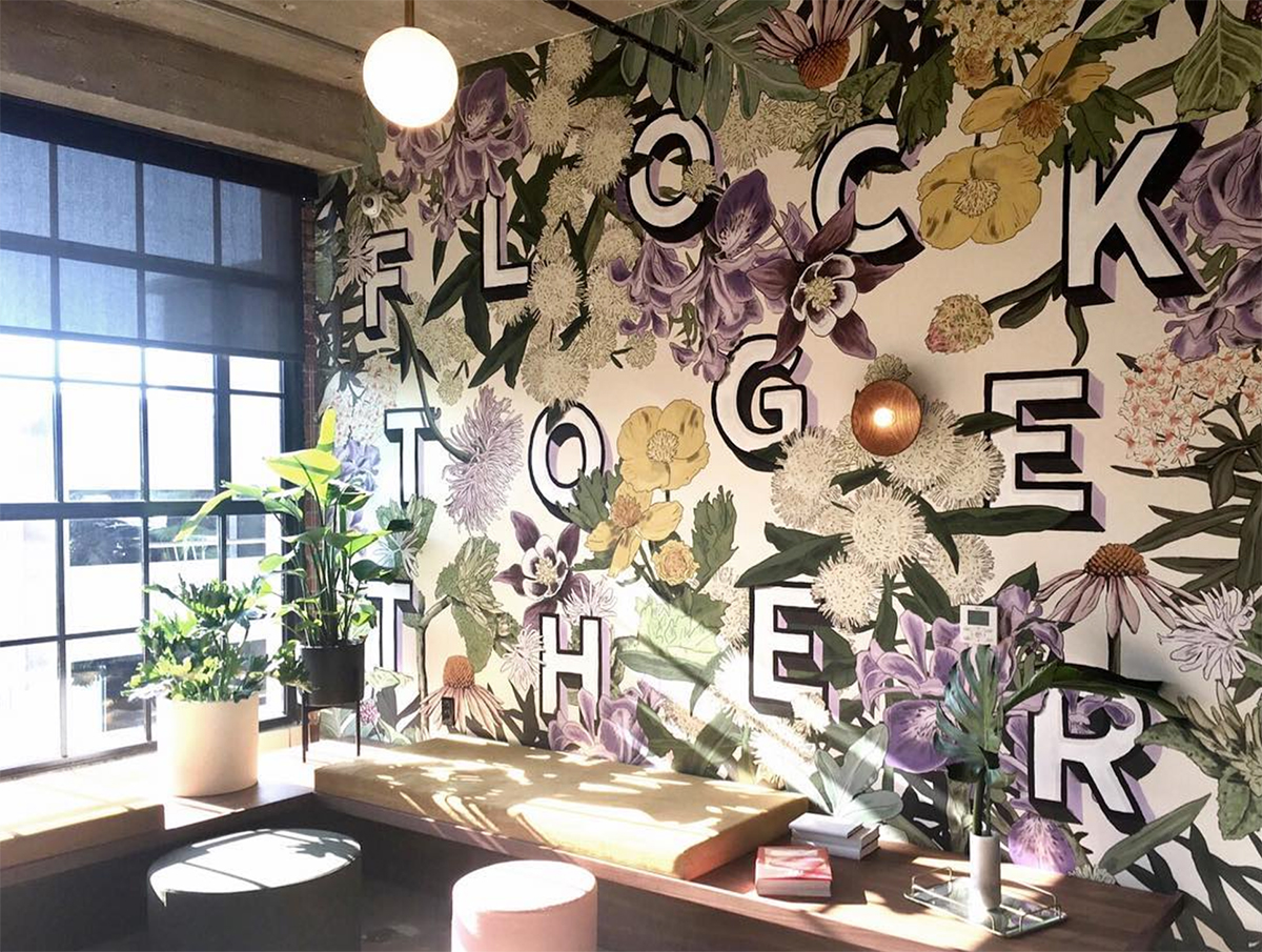 Mural collaboration with my teammate Sidney Howard   for WeWork Kansas City