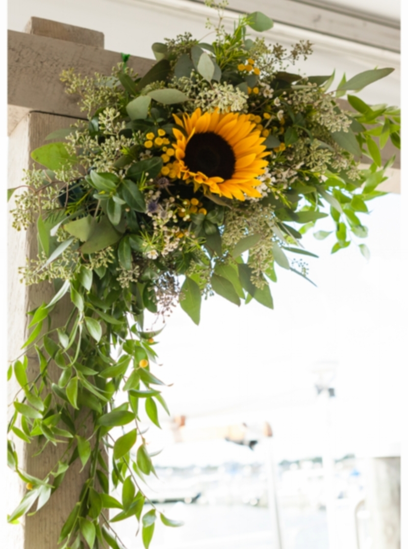 Wedding Sunflower Arbor