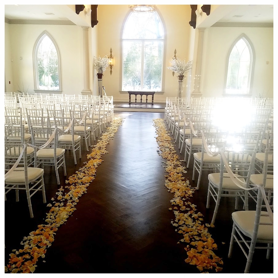 Wedding Ceremony Rose petals