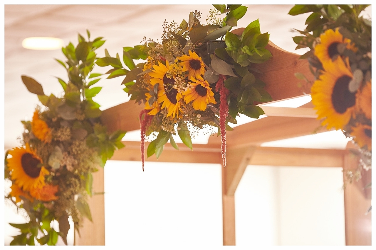 Sunflower Wedding Arbor