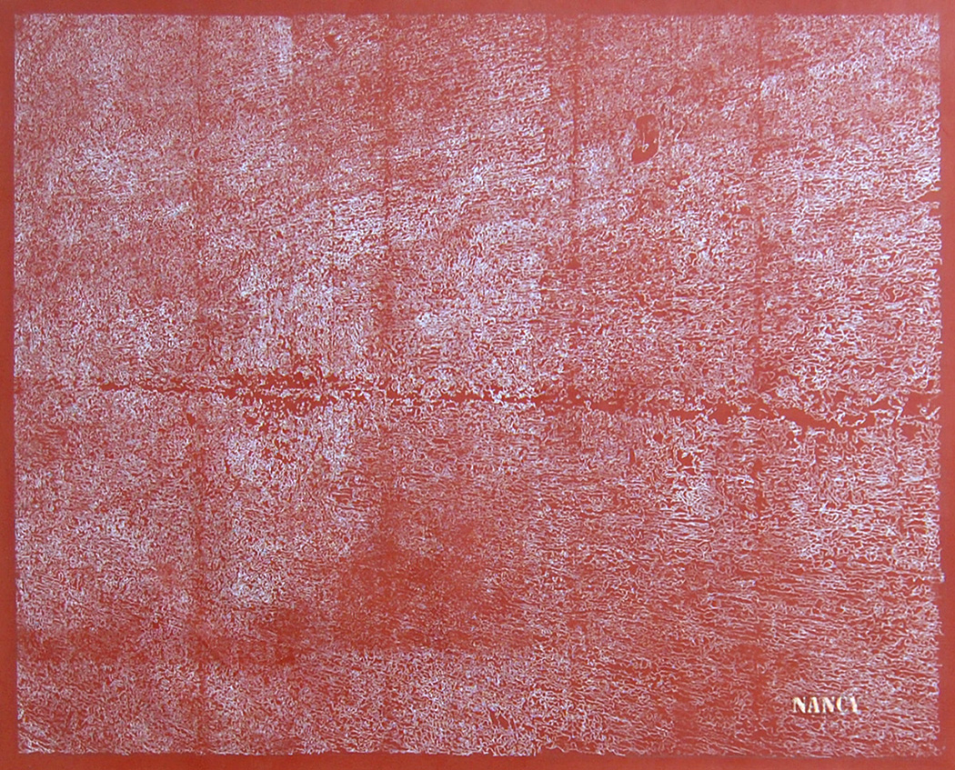 "Nancy   Chalk & Oil on Canvas  38"" x 28""  2016"