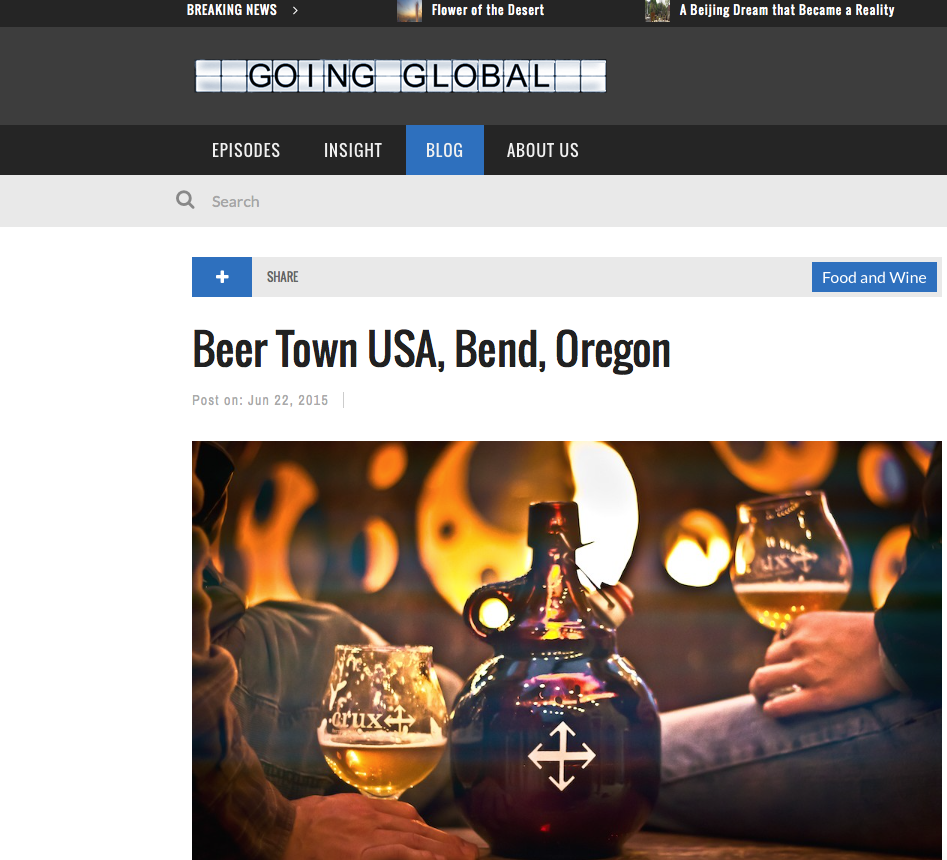Going Global TV Bend, Oregon Beer Town USA