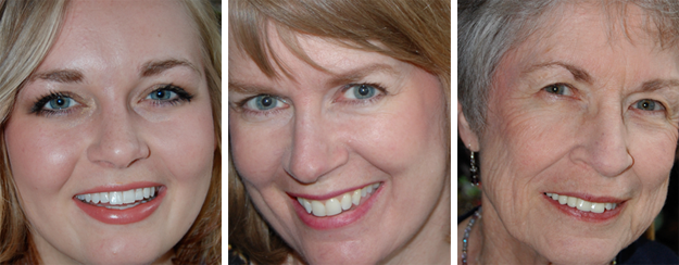 Three generations of my family are pictured above:  Rebekah—mid 20s; Jennifer (me) —low 50s; Anna—low 80s, to show how  Heavenly Scents  mineral makeup can enhance your features and make you look your best whatever your age.