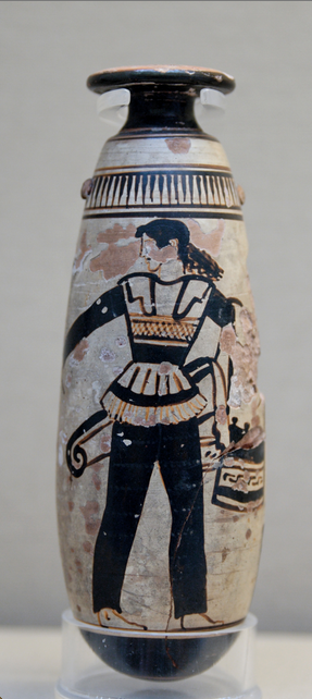 Amazon wearing trousers and carrying a shield c. 470 BC,   British Museum, London. photo by  Marie-Lan Nguyen (2007)