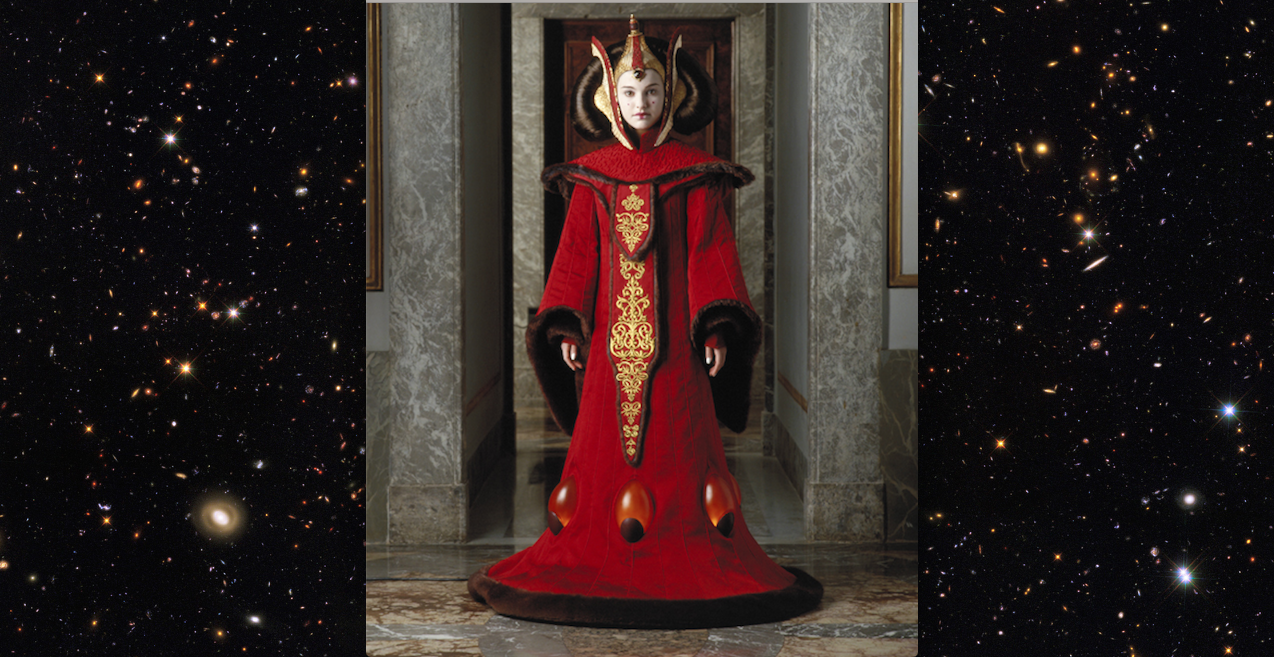 Queen Amidala, Throne Room Gown.  Star WarsTM: The Phantom Menace.  © & TM 2016 Lucasfilm Ltd. All rights reserved. Used under authorization.