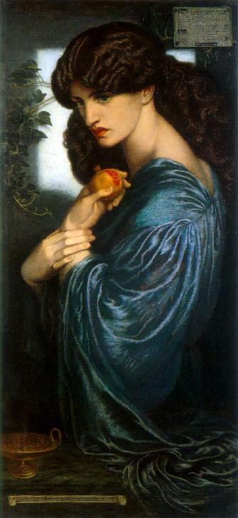 Food in fairyland is never free. It isn't free in the land of the dead, either. Perhaps there's a connection?   Proserpine by Dante Gabriel Rossetti .