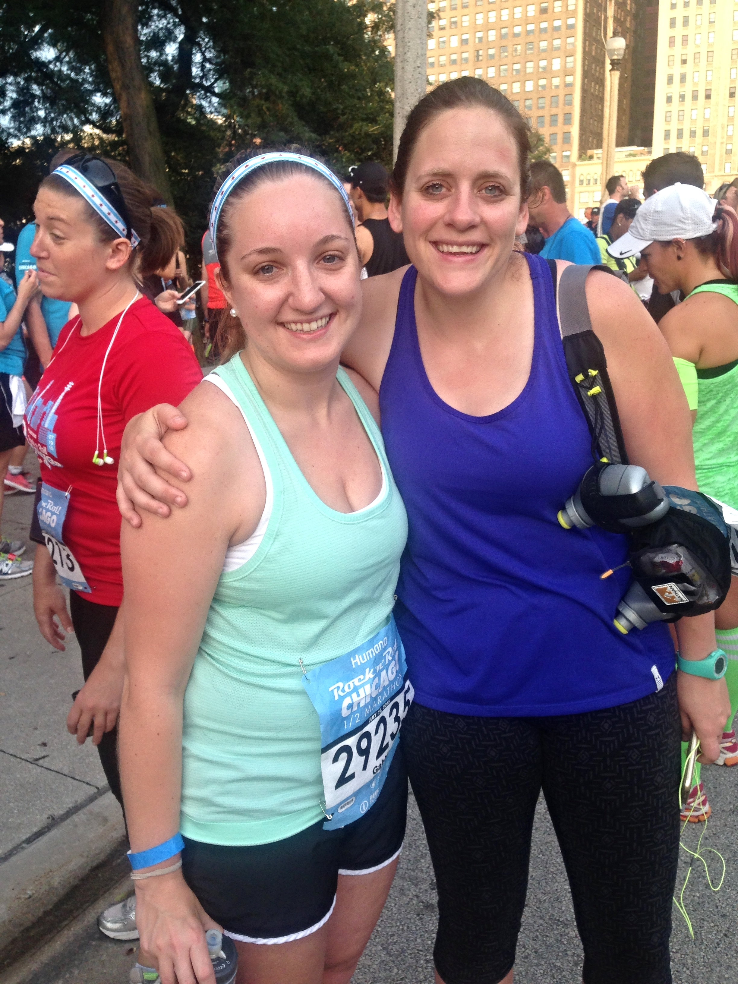 Heather and I at the Chicago Rock and Roll Half - July 2015