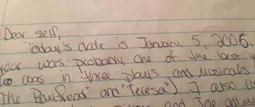 My handwriting hasn't changed much....