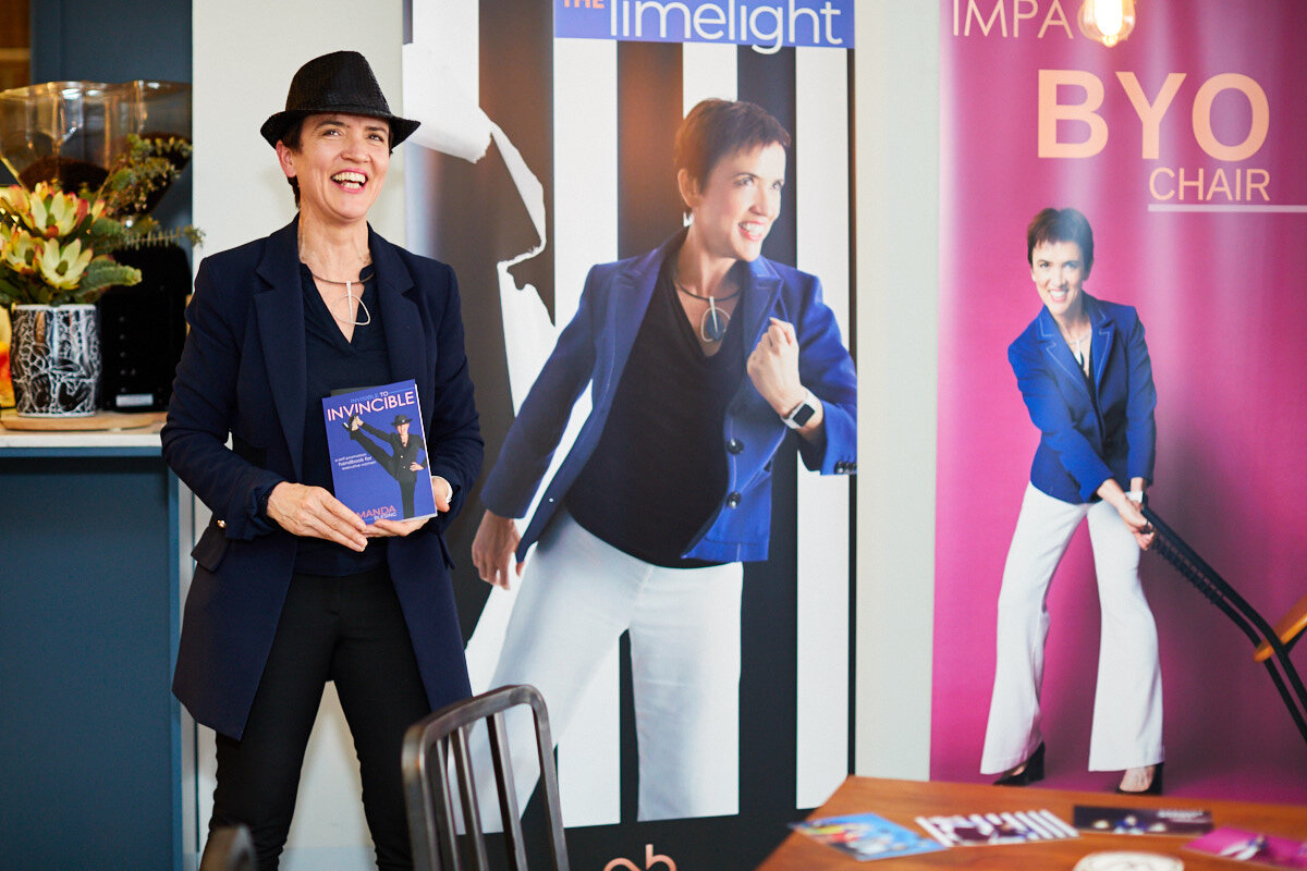 From Invisible to Invincible and beyond at the VIP launch of Amanda Blesing's new book