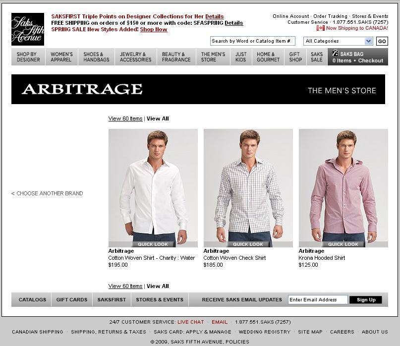 Saks Online Store