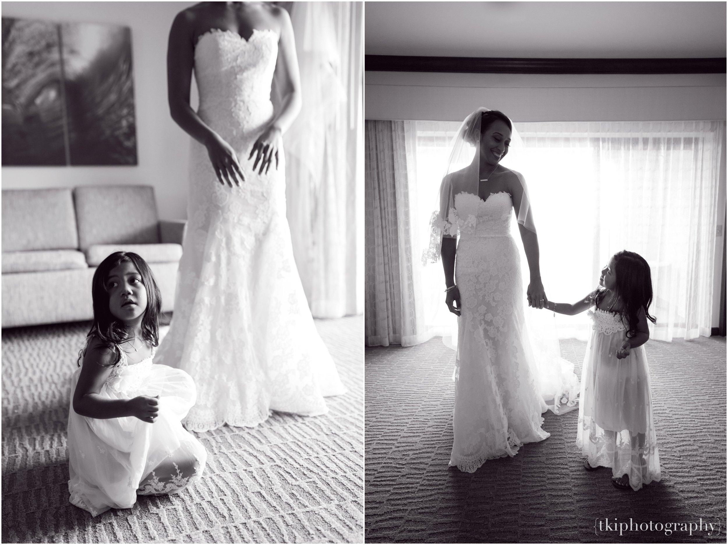 Wedding Bride with her daughter