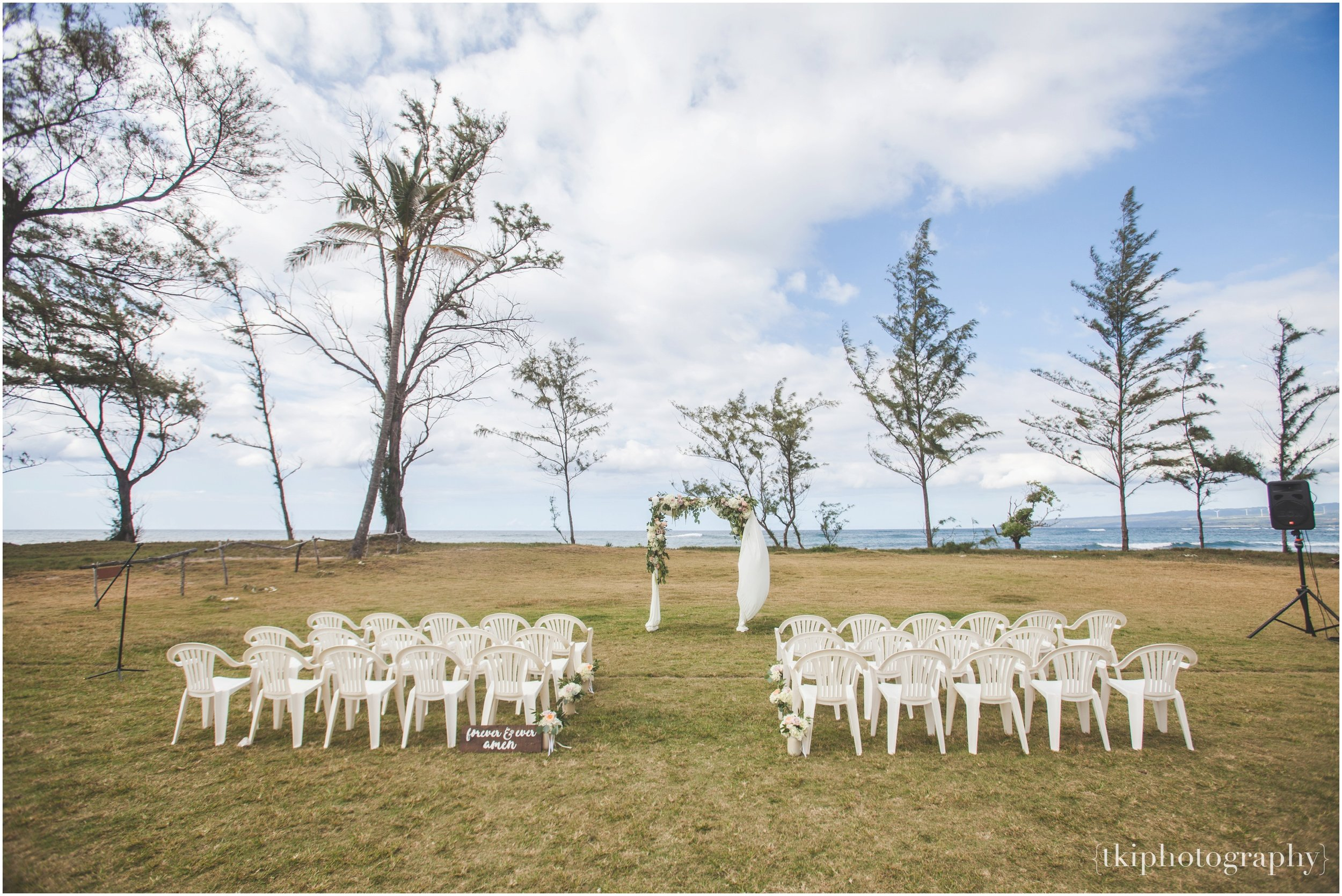 Wedding Ceremony at hawaii polo field