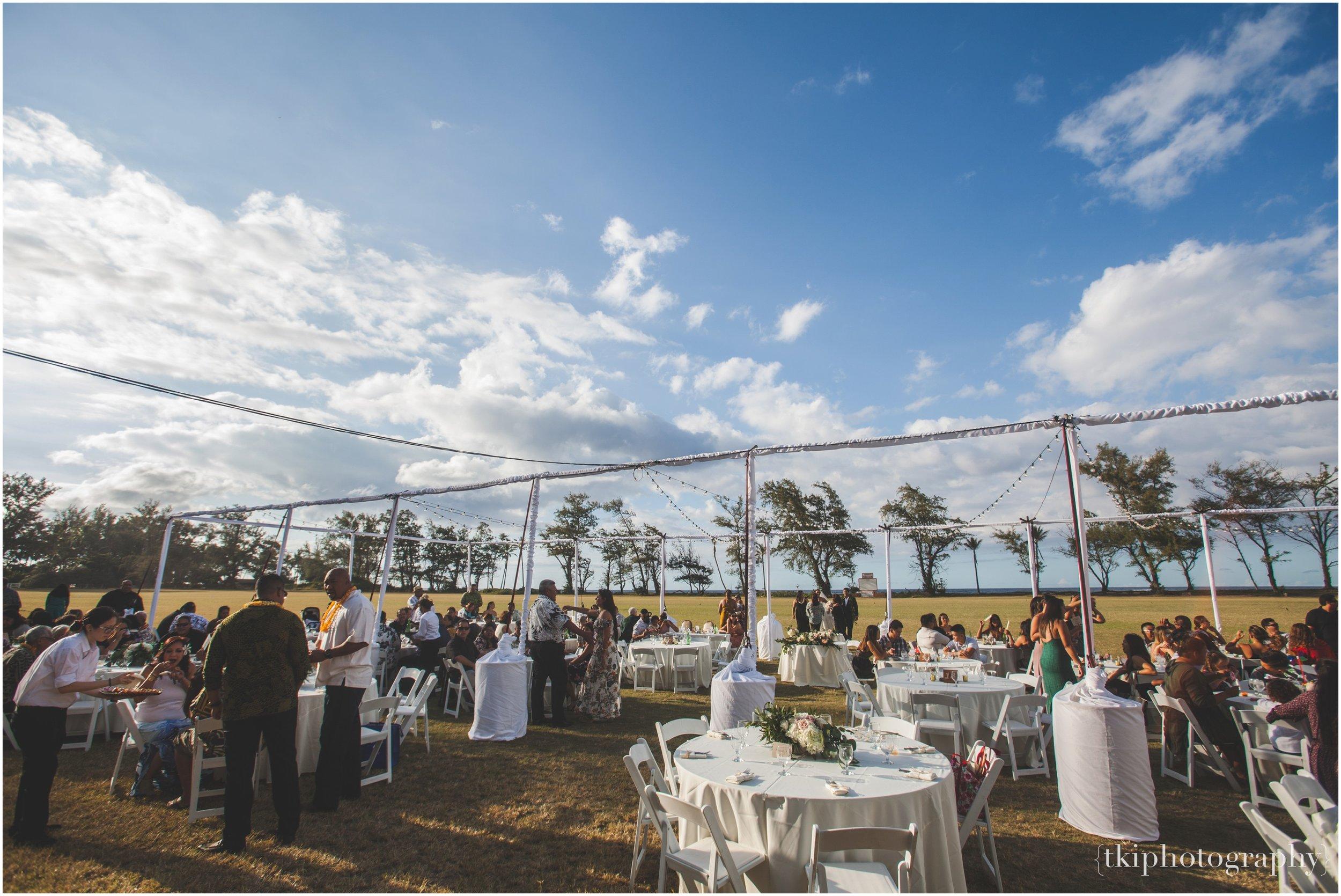 Outdoor Reception in Hawaii