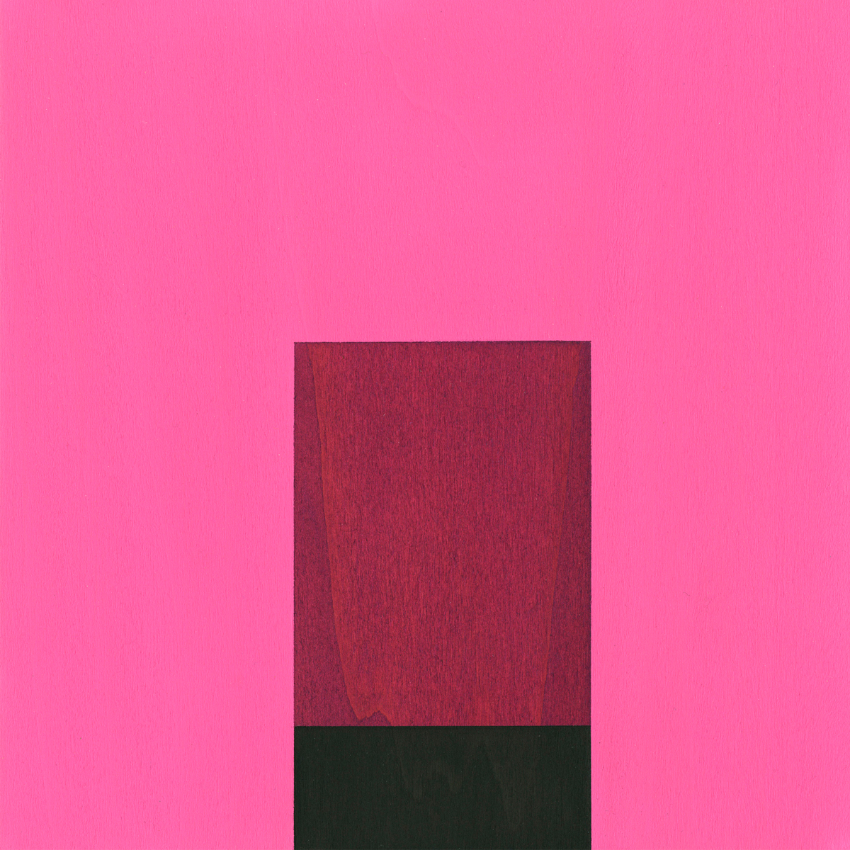 "Heart #1      Gouache / Wood     8.5"" x 8.5"" x 1""     2005"
