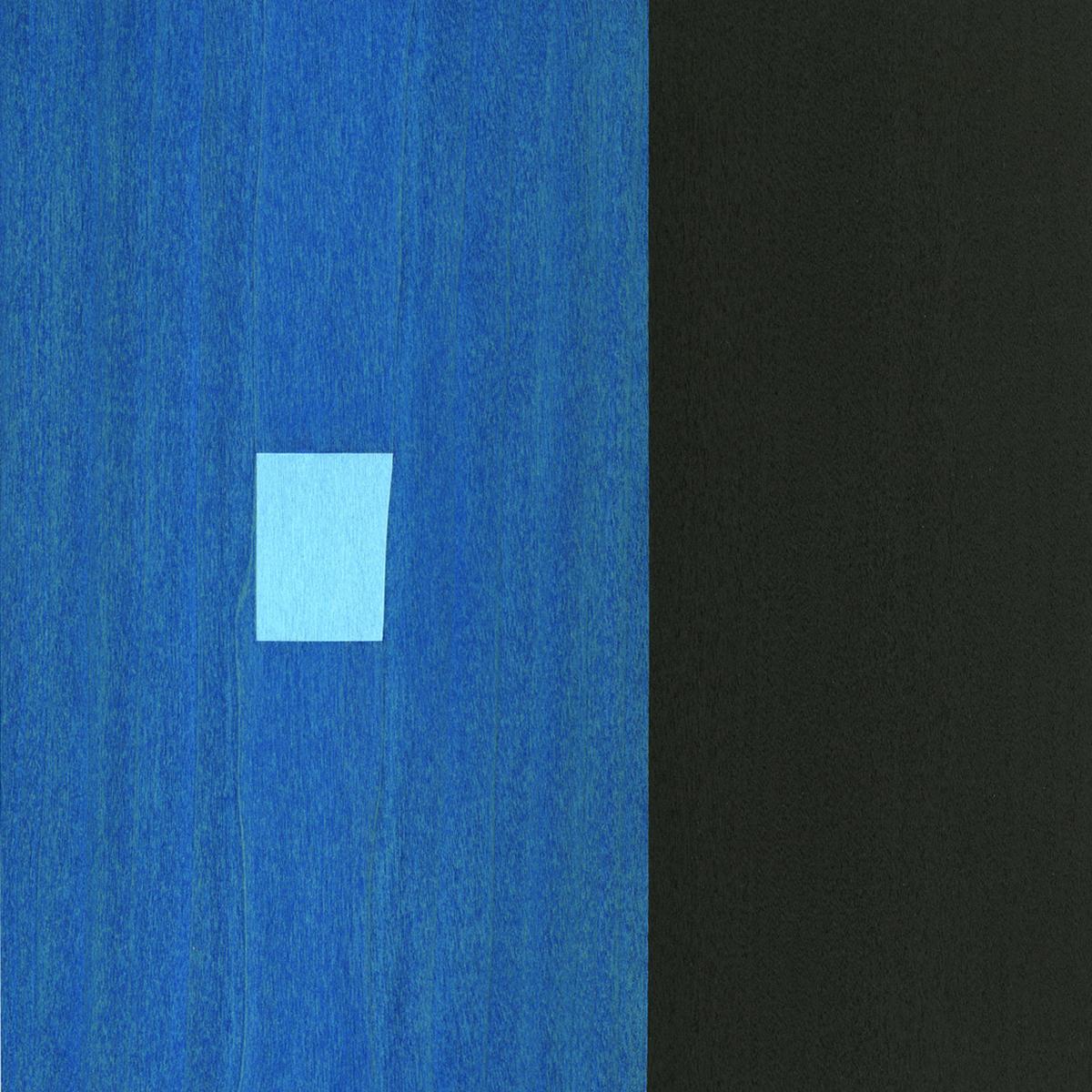 "Binary  Gouache / Ink / Wood 9"" x 9"" x 1"" 2012"