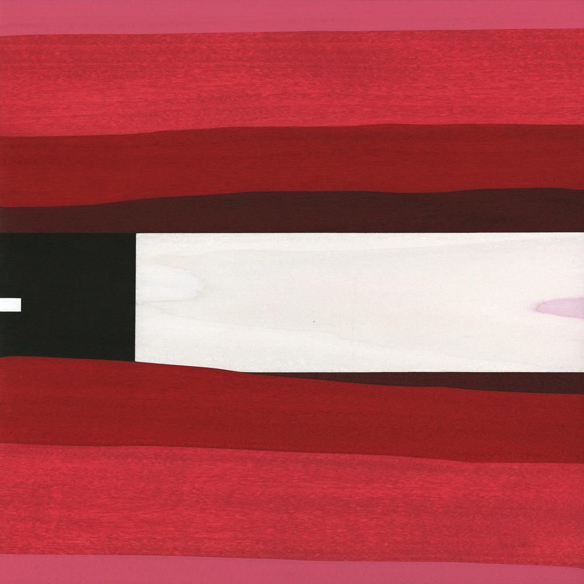 """Leda      Gouache / Ink / Wood 11"""" x 11"""" x 1""""   2012"""
