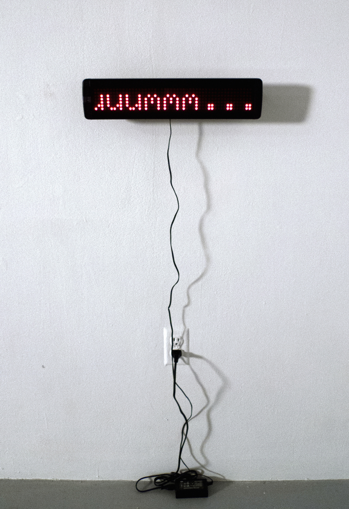 """ummm…    Digital LED Sign and Chair   48"""" x 48"""" x 48""""   2011 (3 of 3)"""