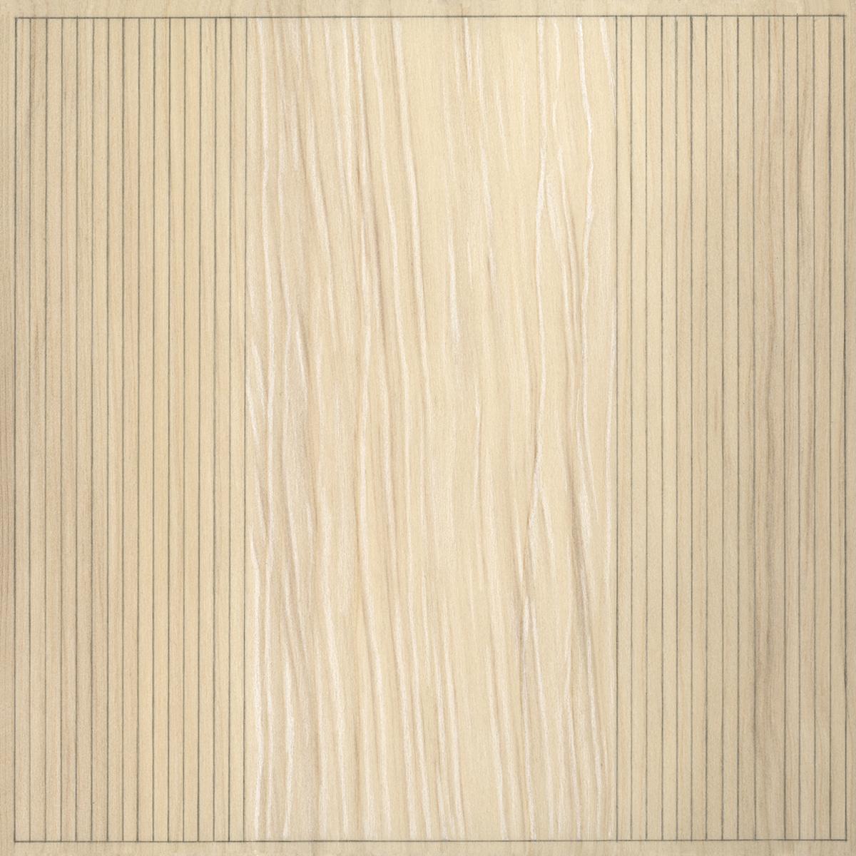 """Three  Graphite / Colored Pencil / Wood 7"""" x 7"""" x 1"""" 2013"""