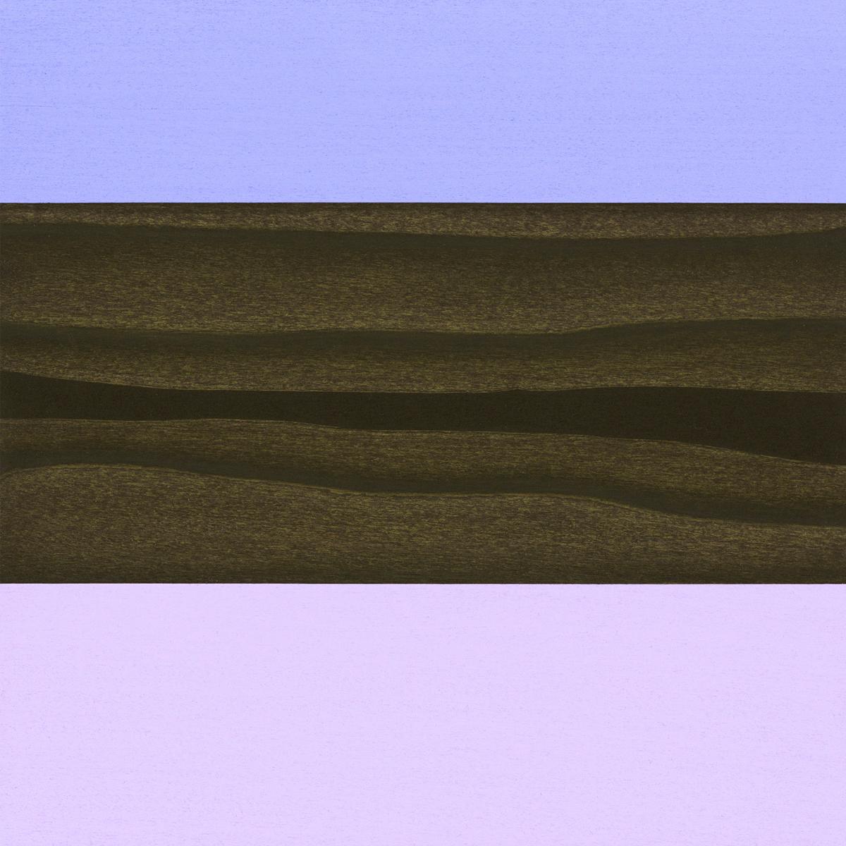 "Saint #5  Gouache / Ink / Charcoal / Wood    11.25"" x 11.25"" x 1""      2009"
