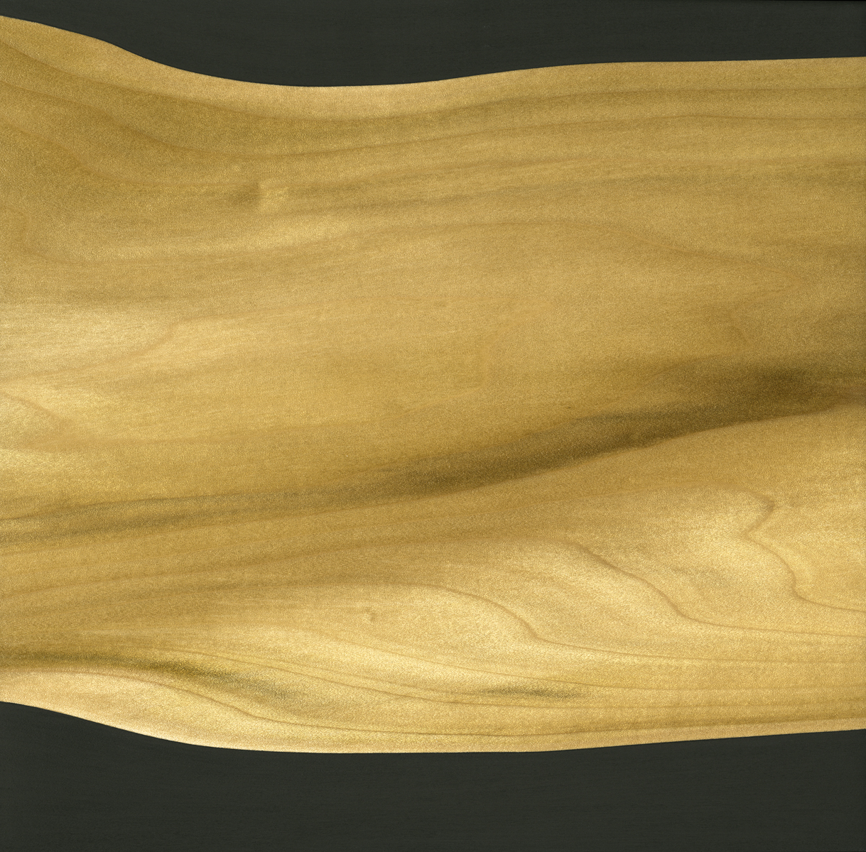 "Glossolalia (Prototype #1)  Gesso/Lacquer/Wood 9 ⅞"" x 9 ⅞"" x 1"" 2017"
