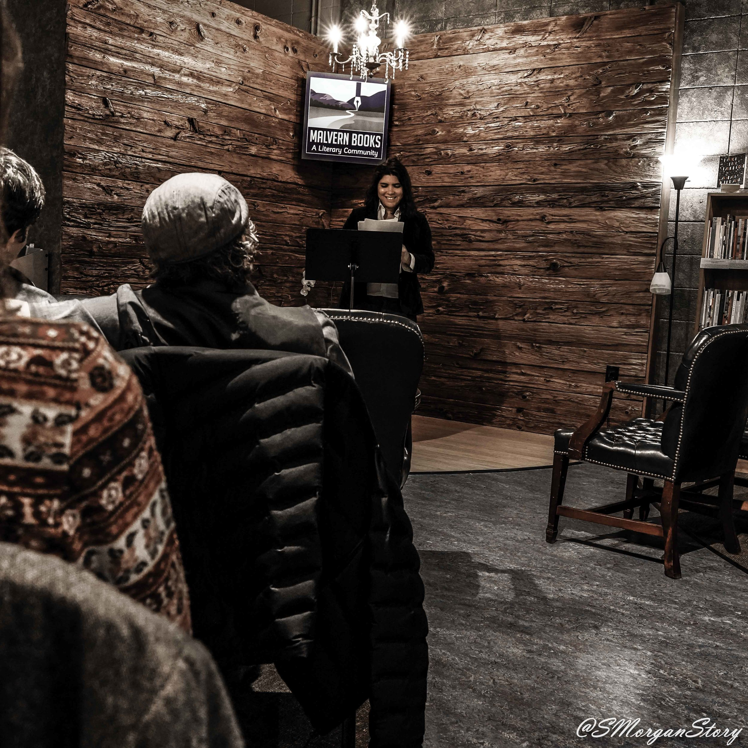 mónica teresa ortiz  reads from   autobiography of a semiromantic anarchist    Malvern Books, Austin, TX (March 2019)