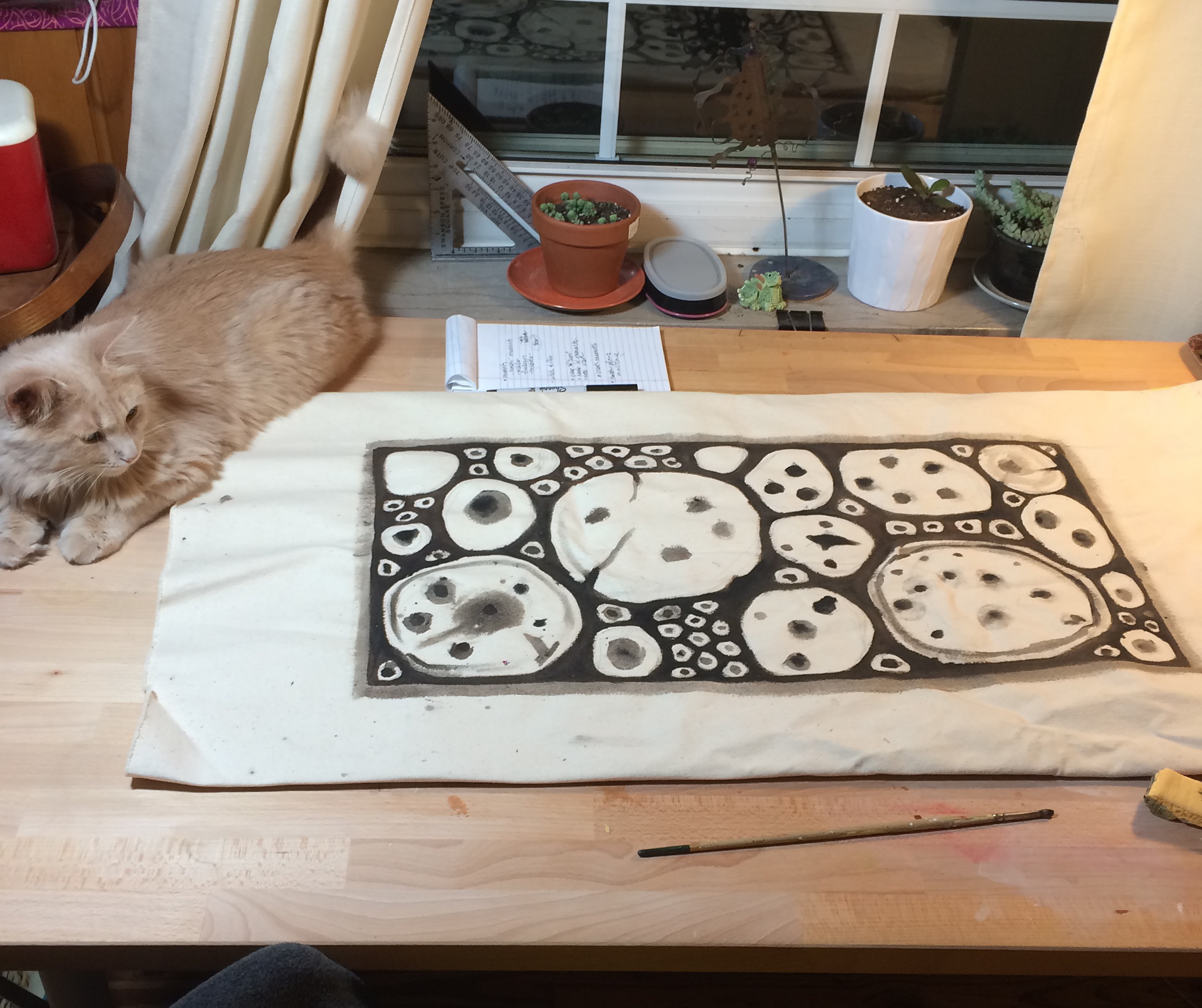 underpainting. and kitten.