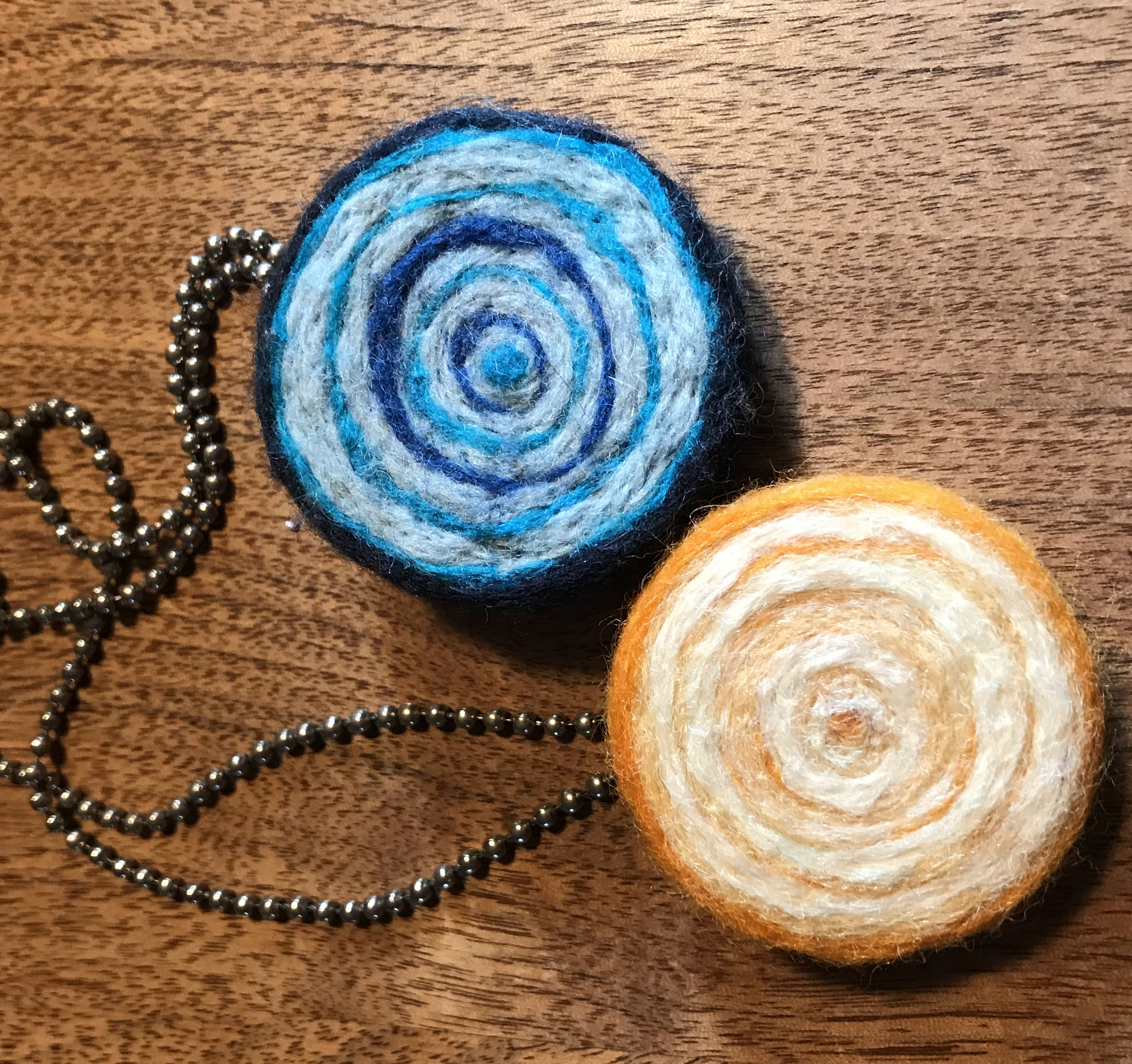 With a nice stainless backing, these fuzzy necklaces won't itch sensitive skin!
