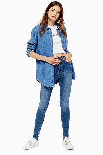 TOPSHOP - Mid Blue Jamie Jeans