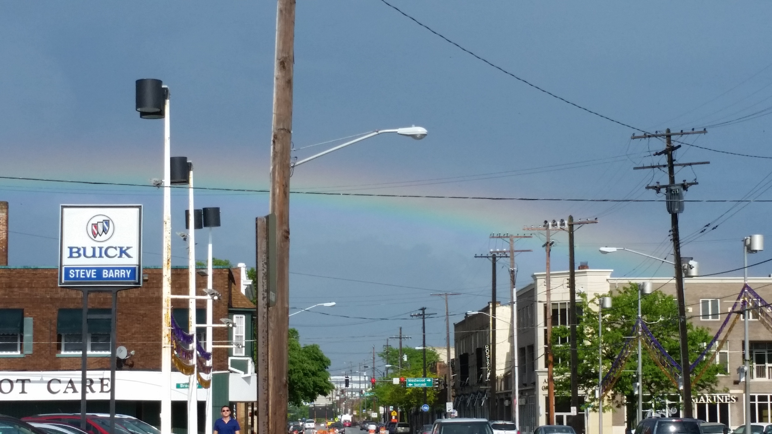 Need further proof the leather jacket was destined for me? A rainbow appeared when I left the store. See? Even the heavens agree.