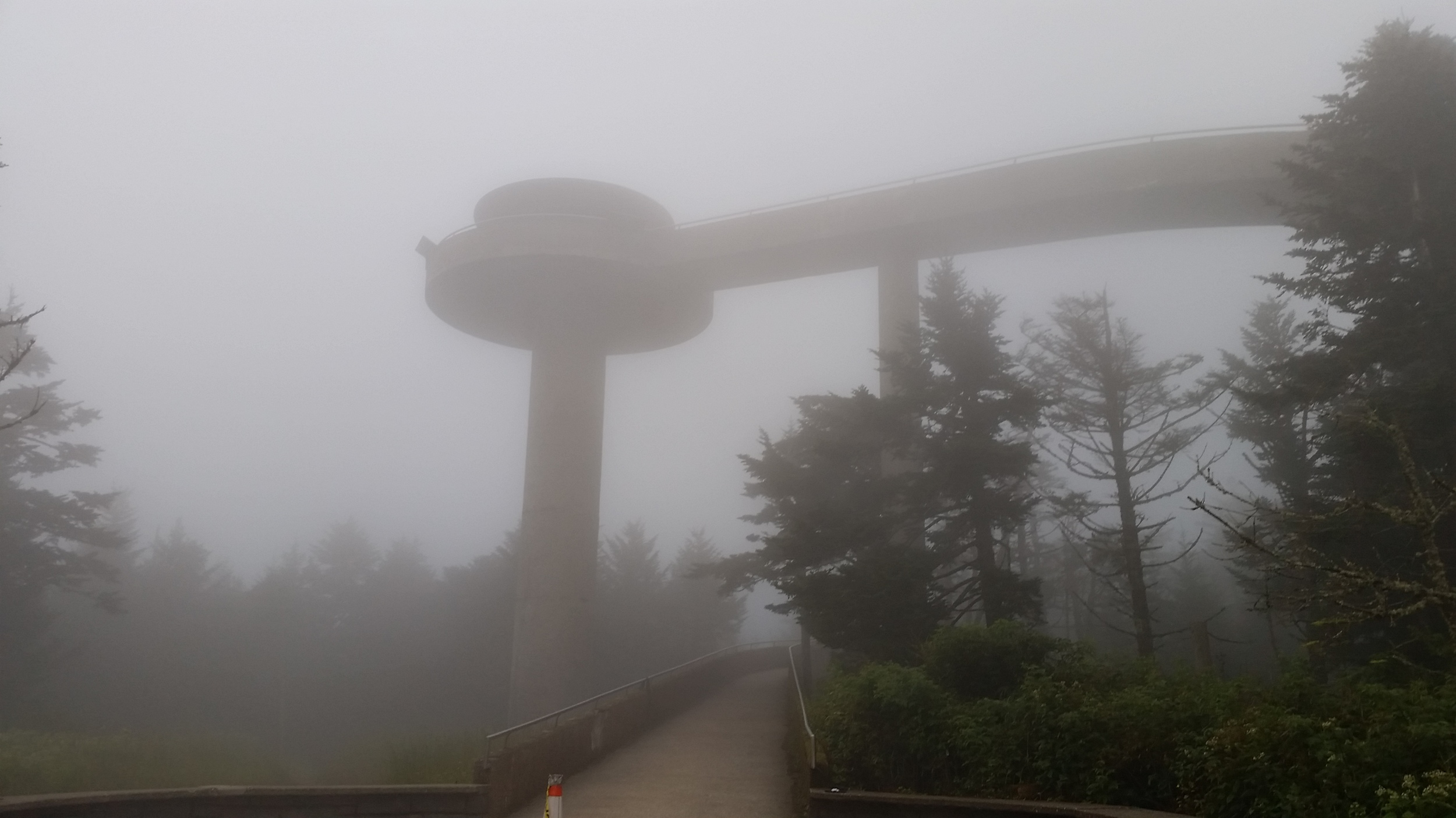 Another view of Clingman's Dome from the ground.