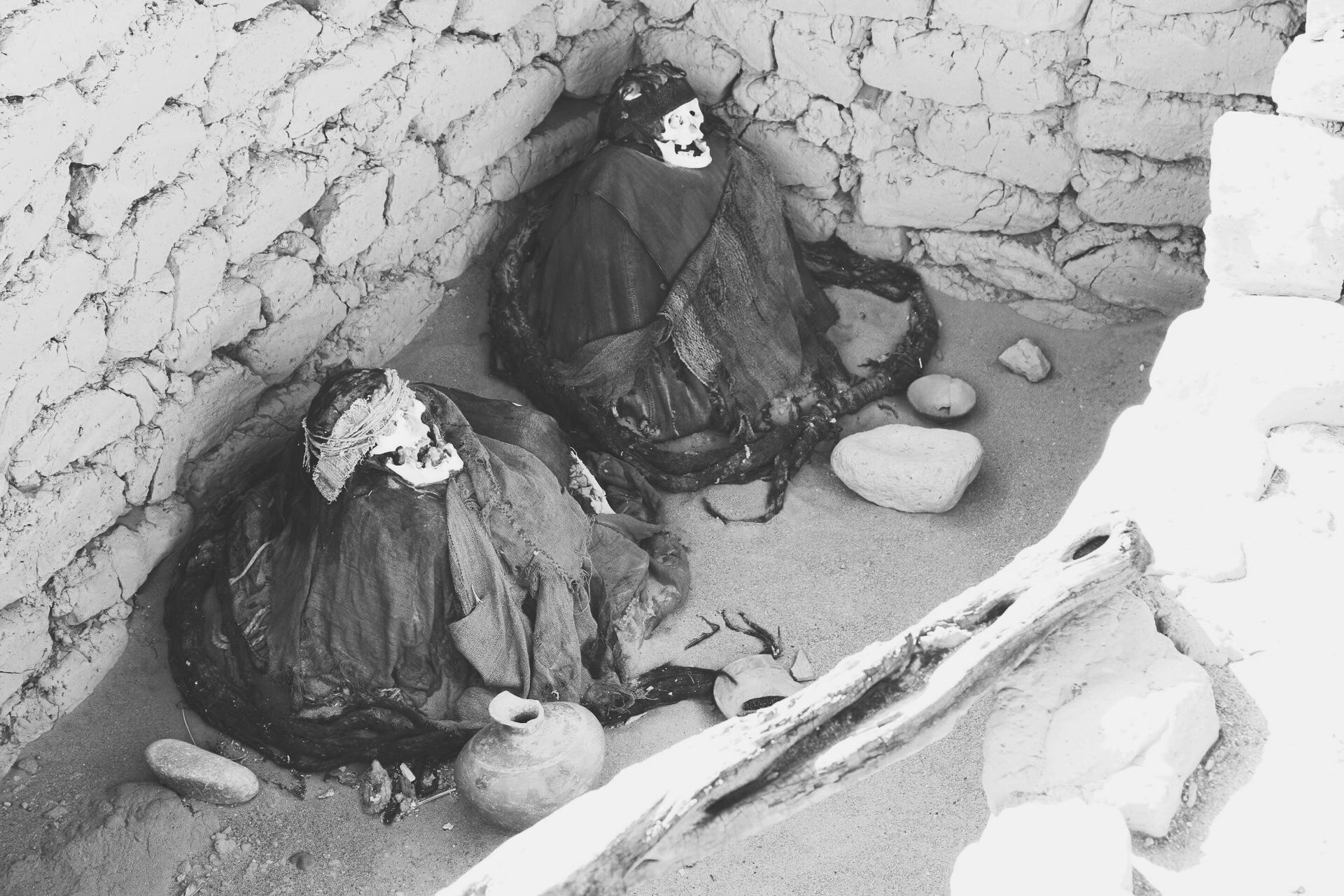 Mummies at the Chauchilla Cemetery
