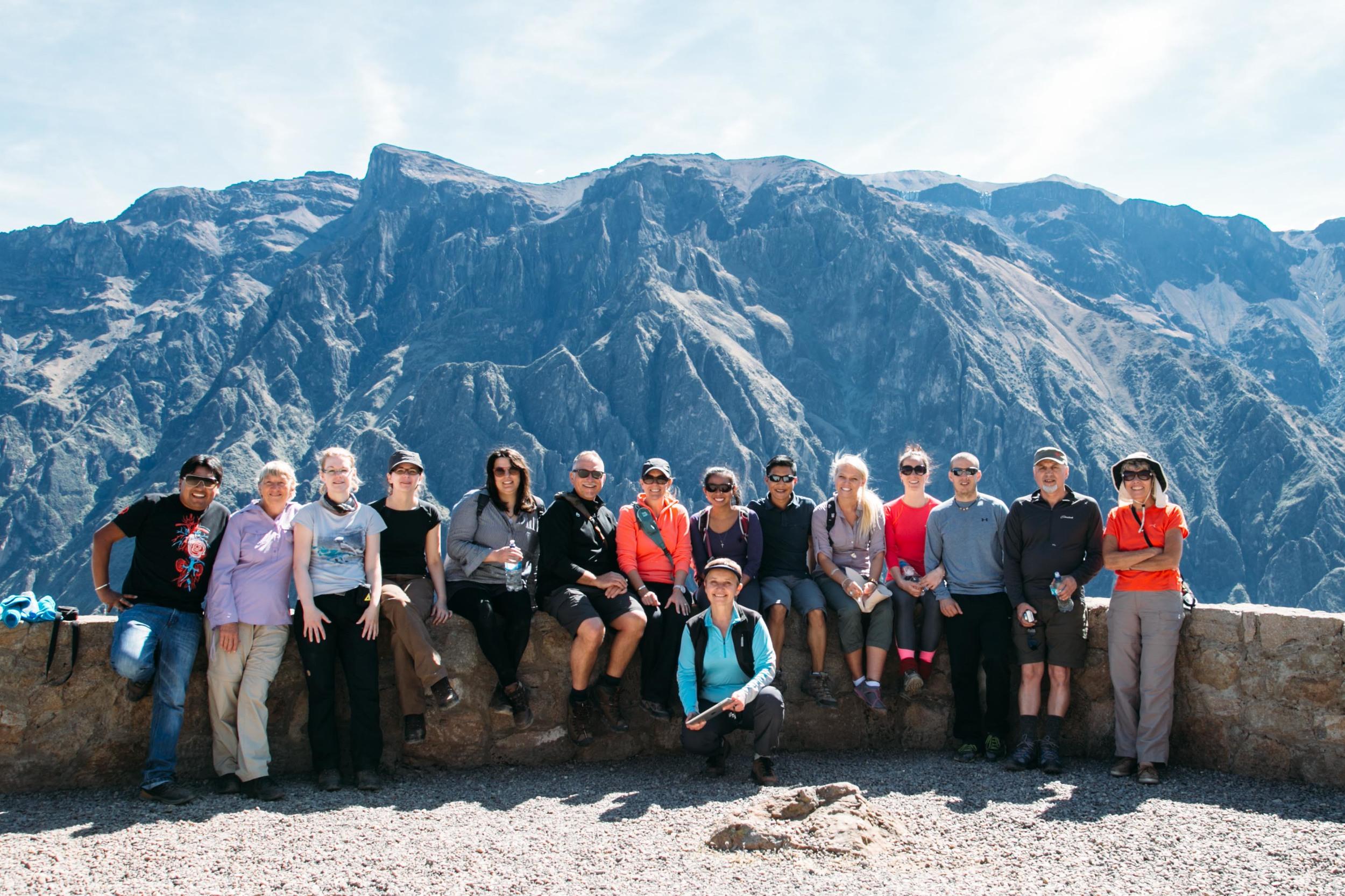 Group shot of Colca Canyon