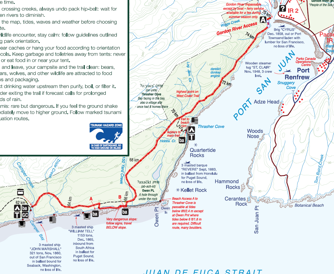 Trail Map - Day 01 Route (in red)