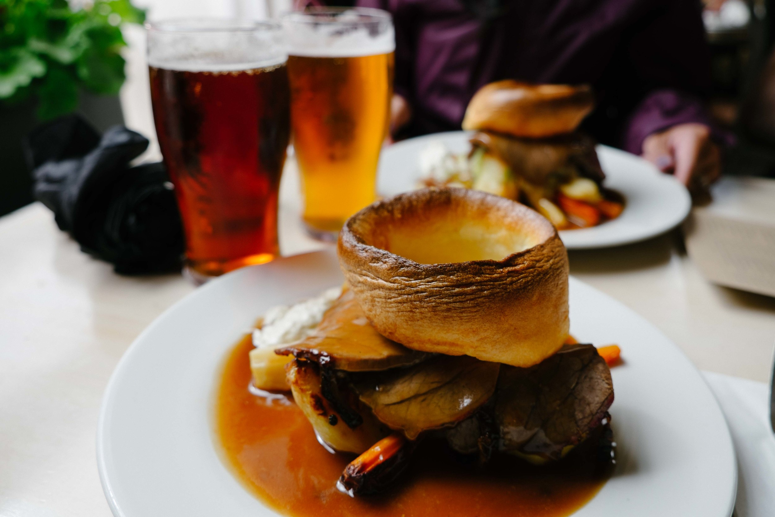 Our very first Sunday roast at The Princess of Wales Restaurant