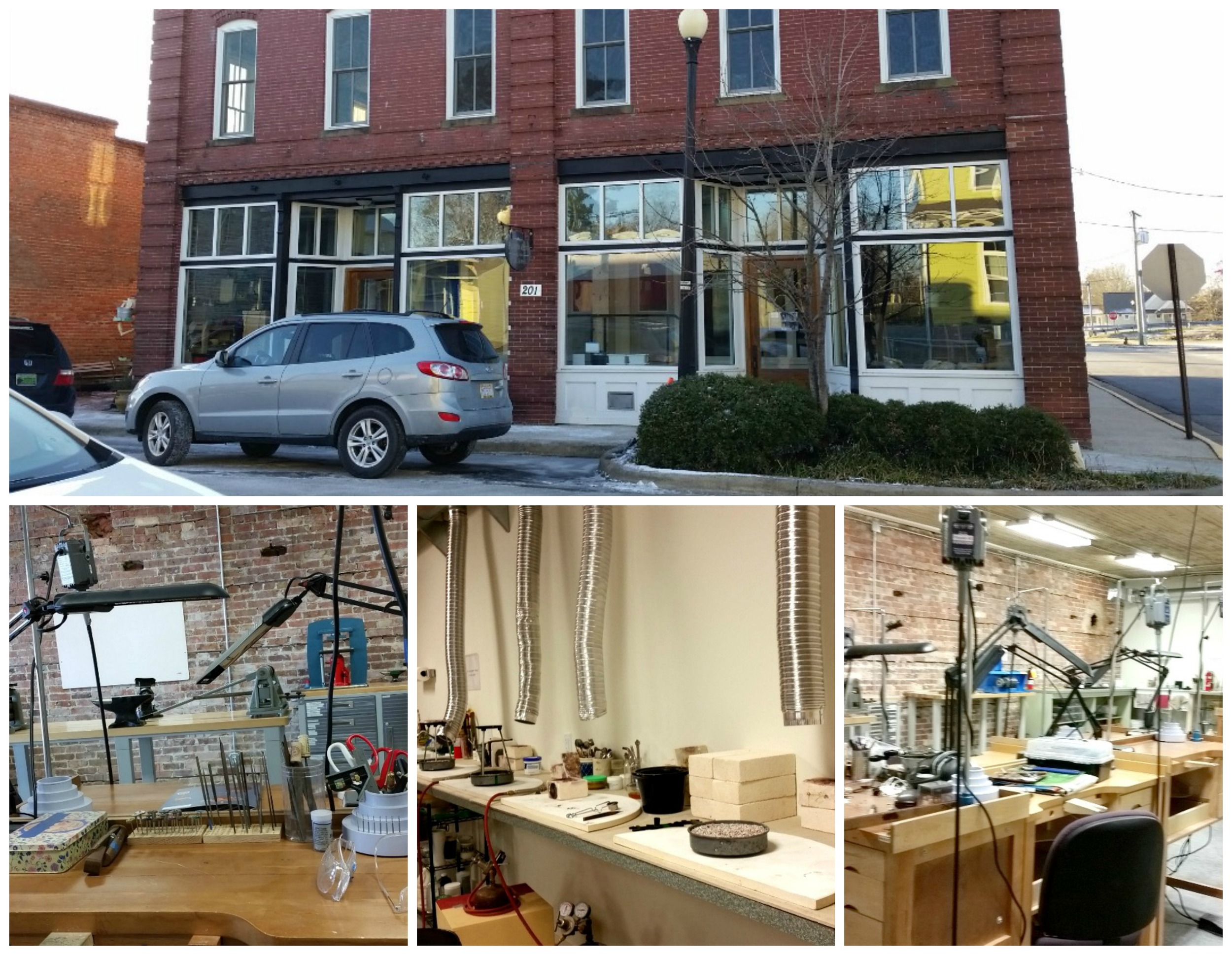 Pocosin Arts, jewelry studio - located in Columbia, NC.