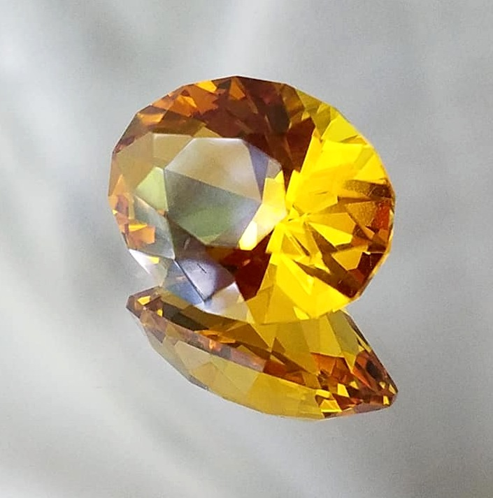 Synthetic - Cristinite - Oval - Yellow Orange (citrine)