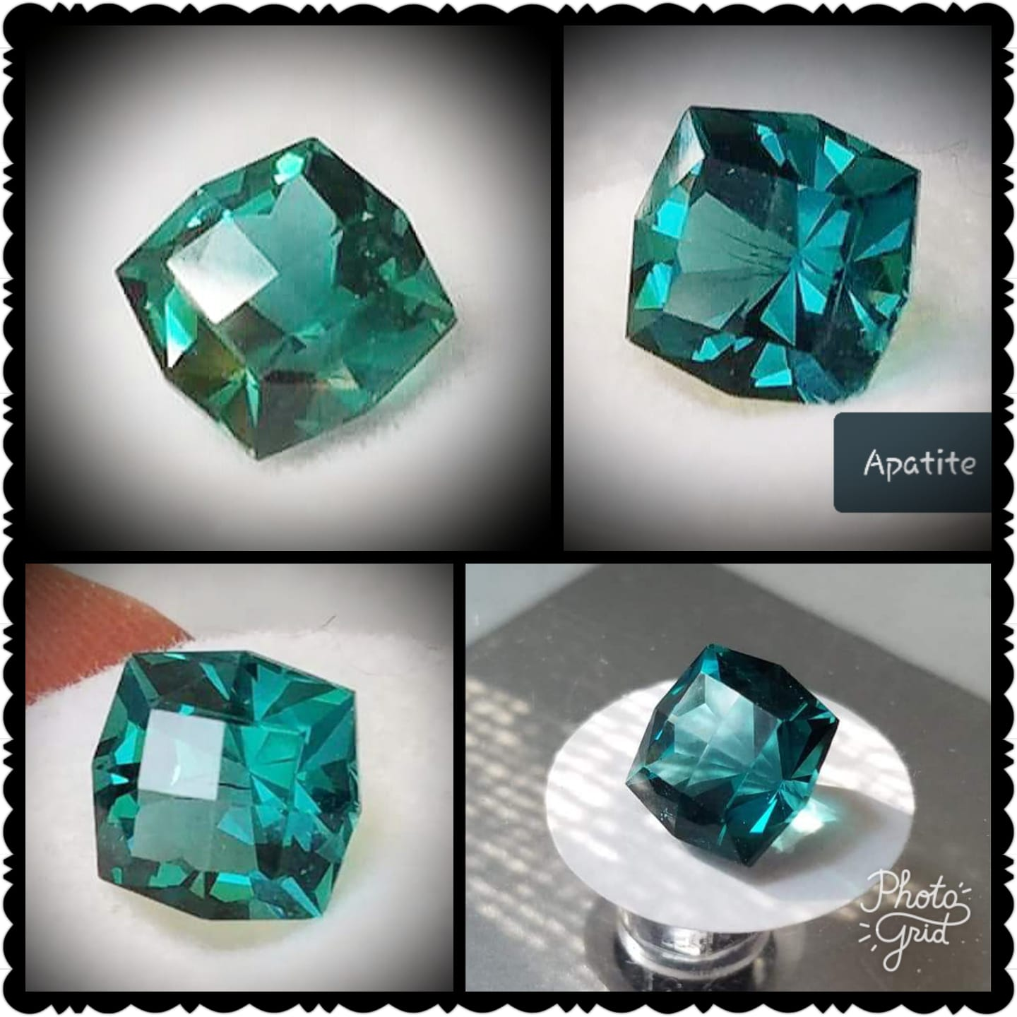 Blue Green Apatite - Checkertop Old Mine