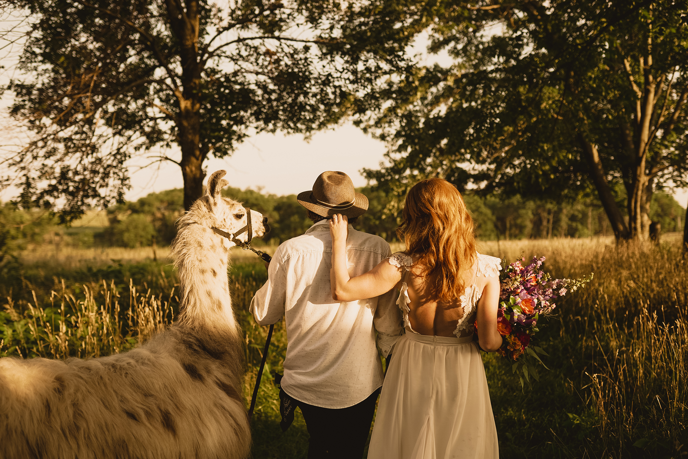 bride-groom-walking-away-with-llama-myrtle-mae-iris-aisle-dame-maiden-lavender-blue-floral-raelyn-ramey-photography.jpg