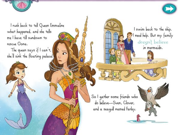 BEST BOOKS FOR LITTLE GIRLS - Sofia the First: Floating Palace sees Sofia saving the royal family from the wrath of the mermaid queen