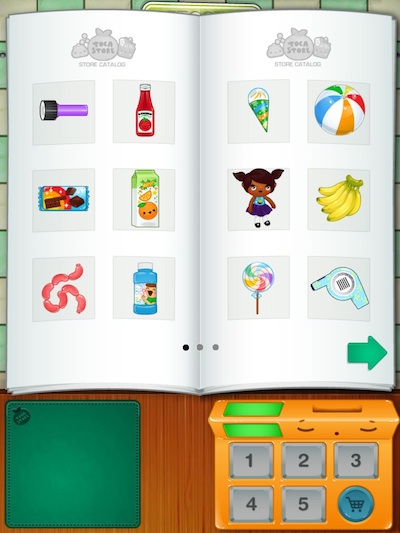 Toca Store Review - You start by selecting items to sell from the catalog