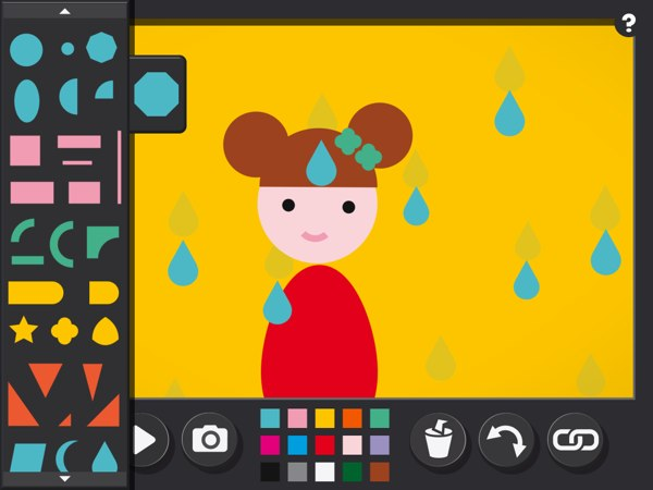 Easy Studio allows you to create simple stop motion animations on your iPad using only geometric shapes.