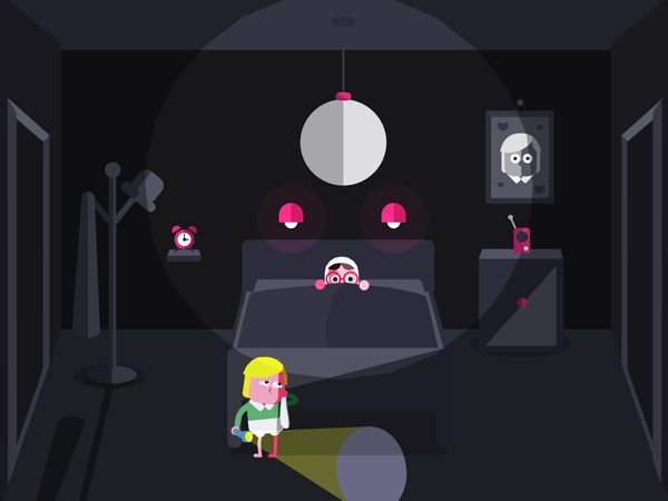 Bonnie gets ready to scare in Toca Boo
