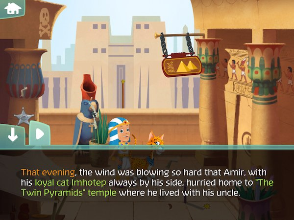 The Amazing Quest, the forgotten treasure promotes reading comprehension by requiring kids to solve puzzles to advance the story
